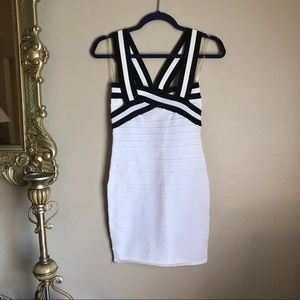 NWT Black & White Bandage Dress